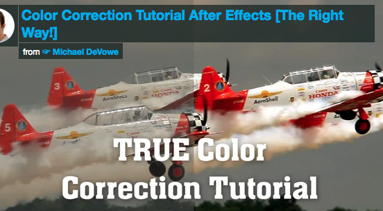 Colour Correction Tutorial After Effects
